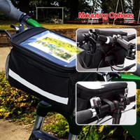 Saco superior do guiador do quadro da parte superior da cesta da bicicleta Saco de Pannier exterior