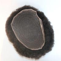 Afro curly Toupee volle Spitze Top Verkauf von schwarzen Haaren unverarbeitete brasilianische menschliche haare afro kinky curl spitze toupee für schwarze männer