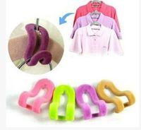 Flocking Mini Clothing Hook Wardrobe Clothes Hanger Creative Hot Sale Easy Hook Closet Organizer Random Color