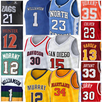 12 JA Morant Zion Jersey Williamson Irving NCAA 23 Michael Universität 11 Kyrie Durant Jerseys Paul Basketball George Young Curry 2020 TRAE