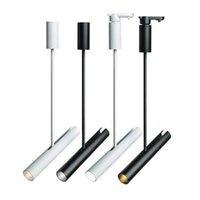 Brand New faretti LED refletor arte pittura gallary pista la luce di canna da appendere a soffitto lampada del punto binario ferroviario industriale lampada