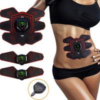 جهاز العضلات اللاسلكية تحفيز تحفيز البطن العضلات المدرب التمارين الاهتزاز EMS تدليك التخسيس آلة تدريب اللياقة البدنية