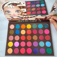 IMEAGO paletas de sombras de olho 35 cores paletas de sombras de olho Nude Creatians sombra de olho Shimmer Sombras foscas Paleta de alta qualidade