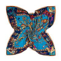 2020 130 * 130 centímetros Verão Mulheres Silk Foulard lenços quadrados cachecol Ladies Luxury Designer praia Xaile Bandana Grande silenciador Hijab Pashmin feminino