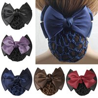 Women Pro Bow Barrette Hair Clip Cover Bowknot Bun Snood Hai...