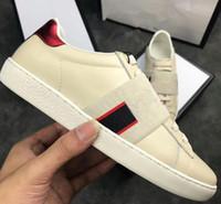 2019 hombres zapatos de diseño de lujo tamaño 36-46 zapatillas de cuero de cuero ACE zapatos de cuero superior deisgner zapatos de mujer zapatillas de deporte de lujo con caja