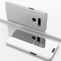 Pour LG V50 Miroir Flip Clear Clear Standard Portefeuille Téléphone Coque pour LG V30 V35