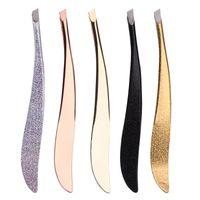 1 PC al colorido de la nueva llegada de la nariz Profesional de acero inoxidable pinzas de cejas Face pelo Clip herramienta del removedor Plátano Clip