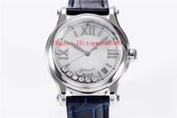 Лучшие HAPPY DIAMONDS Bucherer Синие издания Женские часы Swiss Automatic сапфировое стекло нержавеющая сталь 316L синий ремешок из кожи аллигатора