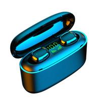 G5를 TWS 블루투스 5.0 무선 이어폰 LED 전원 표시 헤드폰 터치 컨트롤 스포츠 헤드셋은 소음 IOS 안드로이드 이어폰을 취소