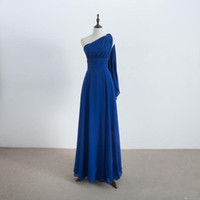 Long Chiffon Convertible Bridesmaids Dresses Royal Blue 2019...
