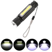 USB carregador COB LED Zoomable lanternas recarregáveis T6 tocha USB Flash Light Magnet bolso exterior Camping viajar Lâmpada embutida 18650