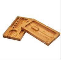 백 플립 나무 롤링 트레이 서류 백 플립 마그네틱 흡연 액세서리 Tobacco 대나무 나무 상자 단일 더블 레이어