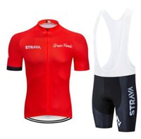 2019 Strava Cycling Jersey Set Summer Quick Dry 팀 자전거 의류 Ropa Ciclismo MTB 자전거 의류 야외 스포츠 슈트 Llxian
