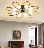 LED teto luminária, lave Semi Monte Pendant Light, Modern Sputnik Candelabro Luz, Starburst Iluminação para banho Quarto