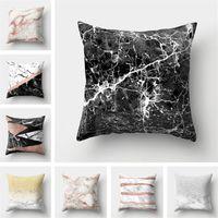 Le marbre créatif Taie d'oreiller Couverture Textiles de Maison Décoration Canapé De Voiture Coussin Décoratif Couverture Coton 45 cm 33 Style 20pcs T1I1129