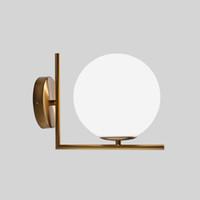 زجاج الكرة الحديثة الجدار مصباح لغرفة النوم غرفة حمام تركيبات المدخل بوابة أضواء المنزل القهوة مطعم الدرج ديكور wandlamp