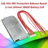 Freeshipping 1 UNID 14S 45A 48V Li-ion Litio 18650 Batería BMS PCB Protección de equilibrio de circuito integrado de circuitos integrados
