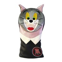 Bonito Coelho Golf motorista Headcover Lady PU tampa de couro do Golf Putter capa de pelúcia animal Golf Chefe
