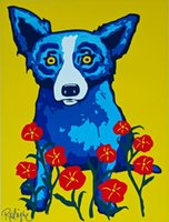 George Rodrigue Blue Dog Spring Is Here Home Decor Handpaint...