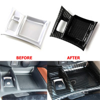 ABS Carbon Fiber Electronic Hand Brake Panel Cover Sticker Trim For Nissan X-Trail T32 X Trail Rug xtrail 2015 2017 2018