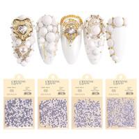 Bianco Colore Rhinestone Gioielli Acrilico Nail Art Decorazioni Nuova Design Higt-Grade AB Crystal Flat Bottom SS6 SS10 SS16 SS20