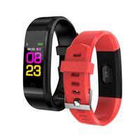 115 más inteligente Muñequera rastreador de ejercicios banda del tipo de reloj de la salud del corazón pulsera inteligente Hombres Mujeres roid celulares con la caja
