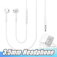 3.5mm의 헤드폰 유선 헤드셋과 마이크 볼륨 컨트롤 이어폰 삼성 갤럭시 S6 S7 S8 S9 S10 소매 포장