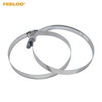 FEELDO 2ST Quick Seal Pull-Ring mit Stellschraube für Auto-Scheinwerfer-staubdichte Abdeckung 45mm-110mm # 6415