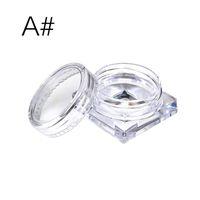10pcs transparente pequeña botella de 2 g / 2,5 g cosmética frasco vacío Pot sombra de ojos del labio crema de la cara del envase de la muestra