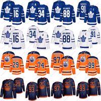 토론토 메이플 leafs 저지 91 Tavares 16 Marner 34 Matthew Edmonton oilers jerseys 97 McDavid 99 Gretzky 74 곰 29 Draisaitl 하키 유니폼