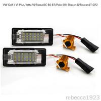 Автомобильные светодиодные лицензионные пластины лампы для VW Golf / VI Plus / Jetta VI / Passat 3C B6 B7 / PLO 6R / Sharan II заводской цена Светодиодные номера пластины 12V 6000K