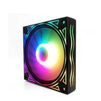 SYSTRSKOOLING WASSER-Kühllüfter 120 * 120mm RGB-Lüfter Hydrauliklager Ruhiger Kühllüfter für PC-Fall