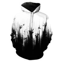 2019 Fashion Hoodies WomenMen Forest 3d Gedruckte Sweatshirts Hip Hop Weiß Schwarz Trainingsanzüge Hoodie Paar Stil Pullover Mit Kapuze