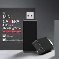 HD 1080P USB DISK مصغرة الكاميرا المحمولة USB فلاش حملة MINI DV DVR كشف الحركة مسجل فيديو دعم TF بطاقة تصل إلى 128GB
