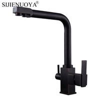 New Square Black Kitchen Faucet single holder for the sink b...