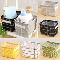 Faltbare Plaid Schreibtisch Aufbewahrungsbox Geometrie Frische Zuhause Ablagekörbe Schrank Unterwäsche Halter Kosmetik Schreibwaren Waschen Organizer