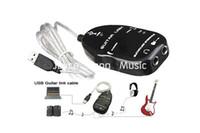 Elektro Gitar Arabirim Bağlantı Ses USB Kablosu Adaptör için Bilgisayar İçin PC / MAC Siyah Beyaz