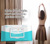 L'alcool de désinfection lingettes 50pcs 75% d'alcool écouvillons lingettes humides Antiseptique Nettoyant pour la peau Soins de nettoyage Tapis de stérilisation