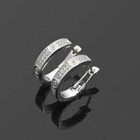 placcato jewerly famoso marchio nuovo modo Stud titanio filo di acciaio oro 18 carati orecchini orecchini gioiello amore classica in acciaio inox