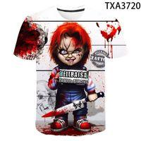 2020 Yaz Modası Korku Filmi Chucky 3D Baskılı Tişört Erkek / kadın Benzersiz Giyim Erkek kız komik Kısa Kollu T Shirt