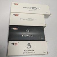 Auténticas bobinas de reemplazo de Yocan para Evolve Plus Wax Vape Pen Evolve-D QDC Cuarzo Dual Bobina