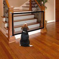 1.1m 1.8m Pet Dog Fence Magic Gate sécurité pliable Mesh Pet Fence Pour Chien Chat bébé Porte clôture Cage d'alimentation Séparation nette