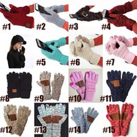 New Arrival winter warm CC Knitted Gloves Touch Screen five ...