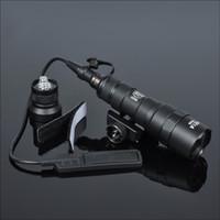 Tactical M300B Mini Scout Light Hunting Outdoor Caccia M300 Torcia elettrica 400 Lumen Torcia LED LANTERNA COMSTANTE Uscita momentanea con interruttore a coda