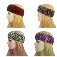 Dzianiny Opaski Damskie Nowy Projektant Hairband Zima Miękki elastyczny pałąk Kwiat Kolory Ciepłe 4 kolor, aby wybrać HHA688