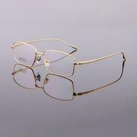 Erkekler için iş Gözlük Çerçeveleri Yarım Jant Titanyum Gözlük Çerçeve Yeni Stil Gözlük Çerçeveleri Optik Çerçeve Altın Siyah Gümüş Gri LB-6628