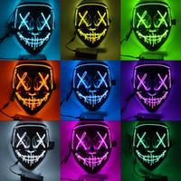 Halloween LED Mask Halloween Party Masque Masquerade Masks D...