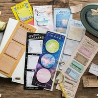 Retro Notas Pegajosas 3x20 PCS / Pack Adesivo Memorando Pad DIY Planejador Dairy Sticker Sticker Bloco de notas Memorando Folhas Escolar Escritório Material