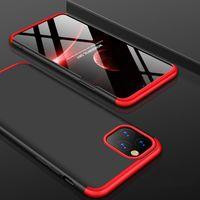 360 degrés 3 en 1 Cover Corps hybride de protection anti-choc Armure mat en plastique dur PC cas pour l'iPhone 11 Pro Max XS XR X 8 7 6 6S plus